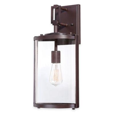 Minka Lavery® Ladera 1-Light 18.25-Inch Wall-Mount Outdoor Light in Alder Bronze