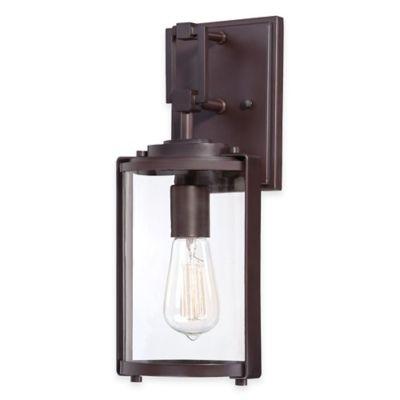Minka Lavery® Ladera 1-Light 14.75-Inch Wall-Mount Outdoor Light in Alder Bronze