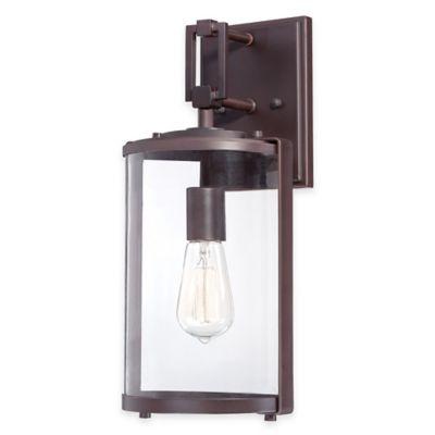 Minka Lavery® Ladera 1-Light 16-Inch Wall-Mount Outdoor Light in Alder Bronze