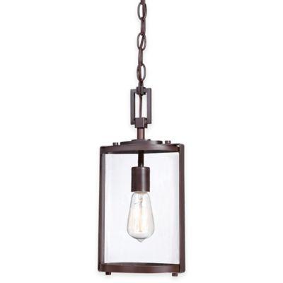 Minka Lavery® Ladera 1-Light Outdoor Pendant Light in Alder Bronze