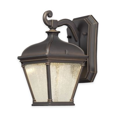 Minka Lavery® Lauriston Manor 10-Inch LED Wall-Mount Outdoor Light in Oil-Rubbed Bronze