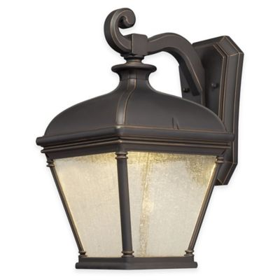 Minka Lavery® Lauriston Manor 15.75-Inch LED Wall-Mount Outdoor Light in Oil-Rubbed Bronze
