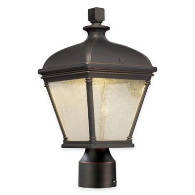 Minka Lavery® Lauriston Manor 1-Light LED Post-Mount Outdoor Lantern in Oil-Rubbed Bronze
