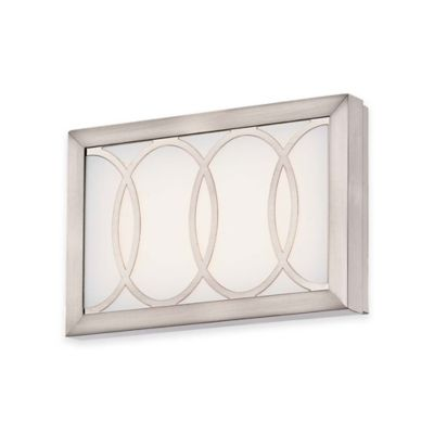 Minka Lavery® Celice 9-Inch LED Wall Sconce in Brushed Nickel with White Glass Shade