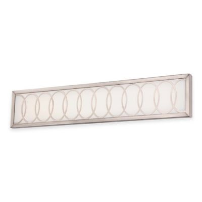 Minka Lavery® Celice 6-Inch LED Wall Sconce in Brushed Nickel with Etched White Glass Shade