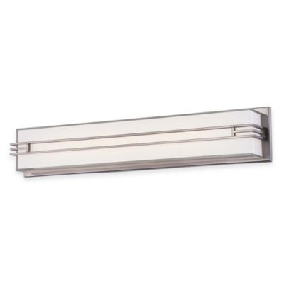 Minka Lavery® Level Bath 26.5-Inch LED Wall Sconce in Brushed Nickel with Glass Shade