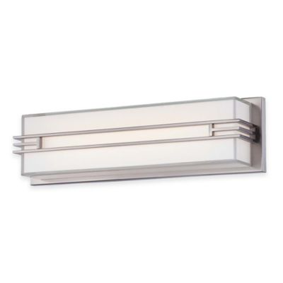 Minka Lavery® Level Bath 17.5-Inch LED Wall Sconce in Brushed Nickel with Glass Shade