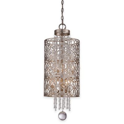 Minka Lavery® Lucero 6-Light Foyer Pendant in Silver