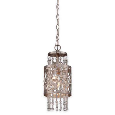 Minka Lavery® Lucero 1-Light Mini Pendant in Silver