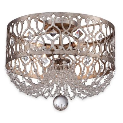 Minka Lavery® Lucero 4-Light Flush-Mount Ceiling Fixture in Silver