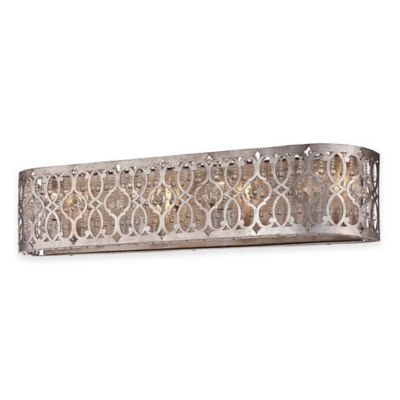 Minka Lavery® Lucero 4-Light Wall-Mount Bath Fixture in Florentine Silver