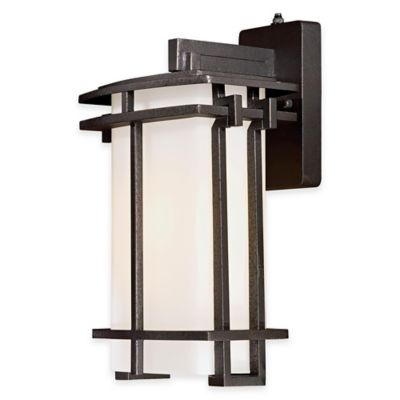 Minka Lavery® Lugarno Square™ 1-Light Wall-Mount Outdoor Light in Forged Silver