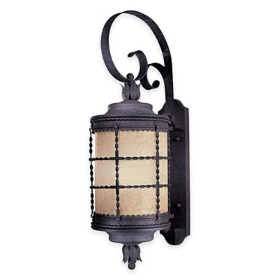 Minka Lavery® Mallorca™ Wall-Mount Outdoor 34-Inch 1-Light Lantern in Iron