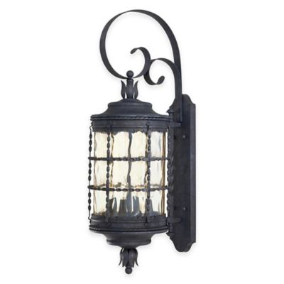 Minka Lavery® Mallorca™ Wall-Mount Outdoor 4-Light Lantern in Iron