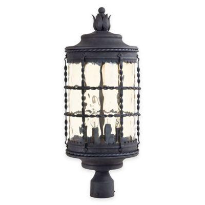 Minka Lavery® Mallorca™ Post-Mount Outdoor 4-Light Lantern in Iron