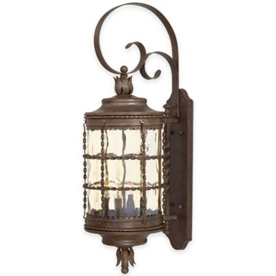 Minka Lavery® Mallorca™ Wall-Mount Outdoor 4-Light Lantern in Rust