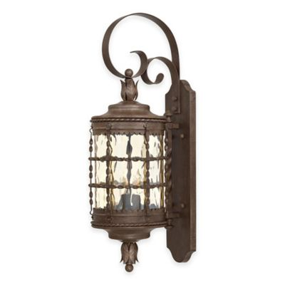 Minka Lavery® Mallorca™ Wall-Mount Outdoor 2-Light Lantern in Rust