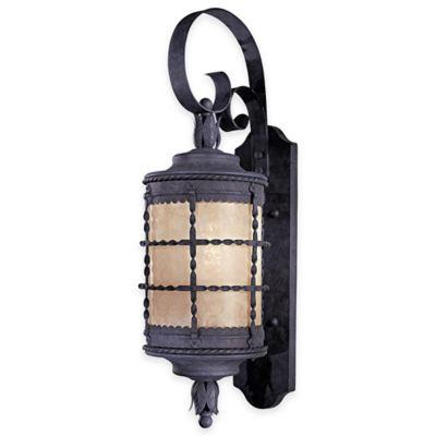 Minka Lavery® Mallorca™ Wall-Mount Outdoor 28.25-Inch 1-Light Lantern in Iron