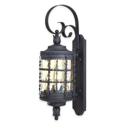 Minka Lavery® Mallorca™ Wall-Mount Outdoor 28.75-Inch 2-Light Lantern in Iron