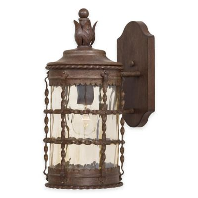 Minka Lavery® Mallorca™ Wall-Mount Outdoor 1-Light Lantern in Rust