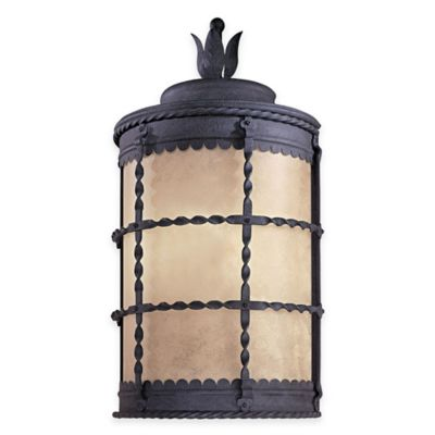 Minka Lavery® Mallorca™ Wall-Mount Outdoor 1-Light Lantern in Iron