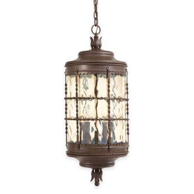 Minka Lavery® Mallorca™ Chain Hung Outdoor 5-Light Lantern in Rust