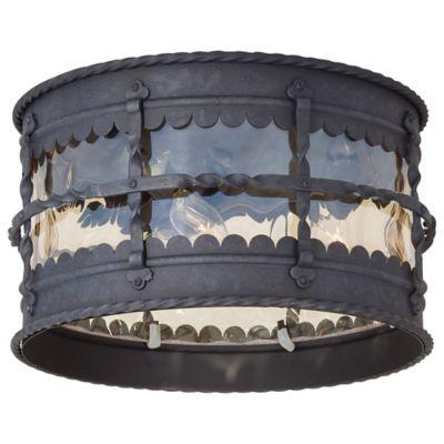 Minka Lavery® Mallorca™ Flush-Mount Outdoor 3-Light Lantern in Iron