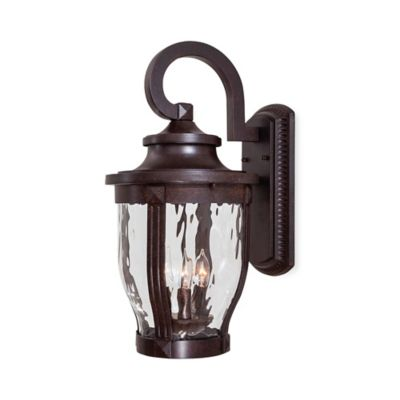 Minka Lavery® Merrimack™ Outdoor Wall-Mount 3-Light Lantern in Bronze