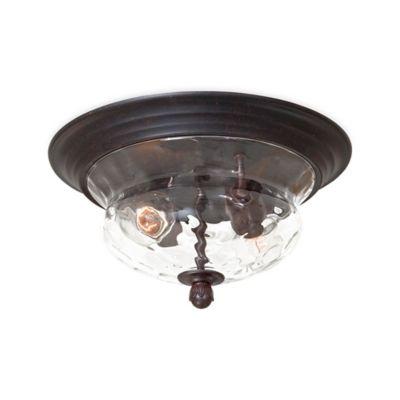 Minka Lavery® Merrimack™ Outdoor Flush-Mount 2-Light Fixture in Bronze