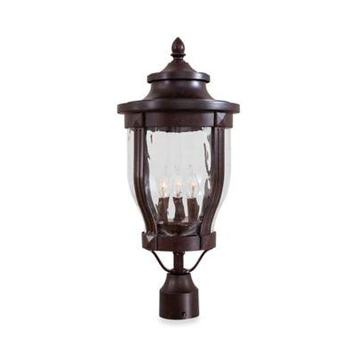 Minka Lavery® Merrimack™ Outdoor 3-Light Post-Mount Lantern in Bronze