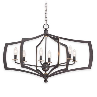 Minka Lavery® Middletown 6-Light Chandelier in Downtown Bronze