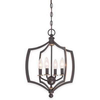 Minka Lavery® Middletown 4-Light Mini Chandelier in Downtown Bronze