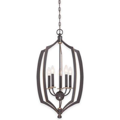 Minka Lavery® Middletown 5-Light 30-Inch Foyer Pendant in Downtown Bronze