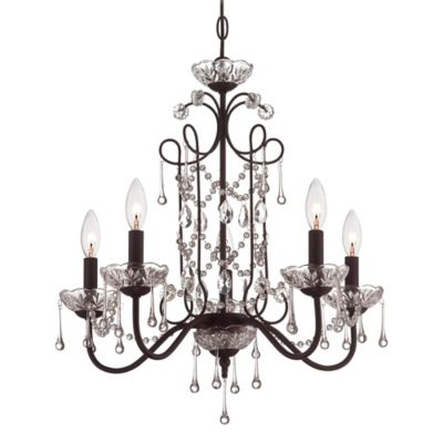 Minka Lavery® 5-Light Mini Chandelier in Aged Bronze