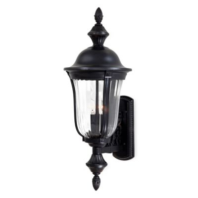 Minka Lavery® Morgan Park™ Wall-Mount Outdoor 3-Light Lantern in Black