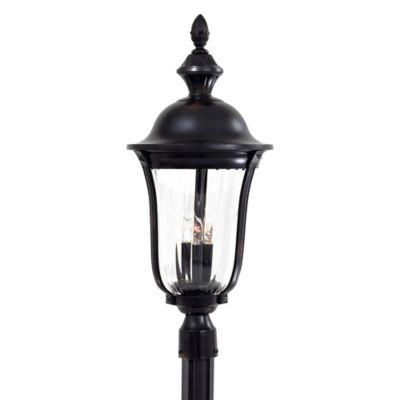 Minka Lavery® Morgan Park™ Post-Mount Outdoor 3-Light Lantern in Black