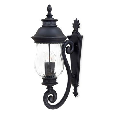 Minka Lavery® Newport™ Wall-Mount 3-Light 18.25-Inch Outdoor Lantern in Heritage Bronze