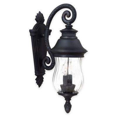 Minka Lavery® Newport™ Wall-Mount 2-Light 18.25-Inch Outdoor Lantern in Heritage Bronze