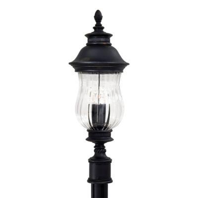 Minka Lavery® Newport™ 3-Light Post-Mount Outdoor Light in Heritage Bronze