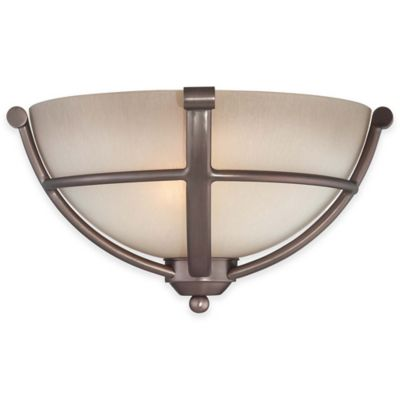 Minka Lavery® Paradox™ 2-Light Wall Sconce in Bronze with Glass Shade