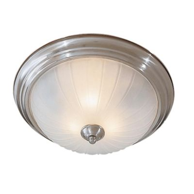 Minka Lavery® 2-Light Flush-Mount Ceiling Fixture in Brushed Nickel with Glass Shade