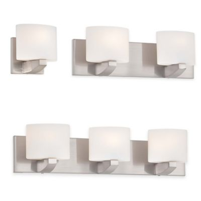 Minka Lavery® Modern Craftsman 4-Light Wall-Mount Bath Fixture in Brushed Nickel
