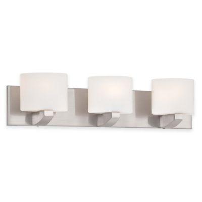 Minka Lavery® Modern Craftsman 3-Light Wall-Mount Bath Fixture in Brushed Nickel