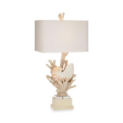 Kathy Ireland Home® by Pacific Coast Lighting® Hanauma Bay Table Lamp in Natural