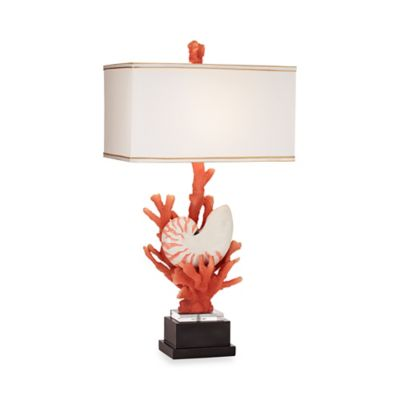 Kathy Ireland Home® by Pacific Coast Lighting® Hanauma Bay Table Lamp in Red