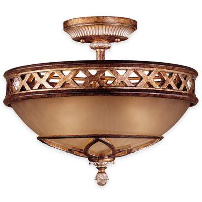 Minka Lavery® Aston Court™ 15.75-Inch 3-Light Semi-Flush Mount Fixture in Bronze