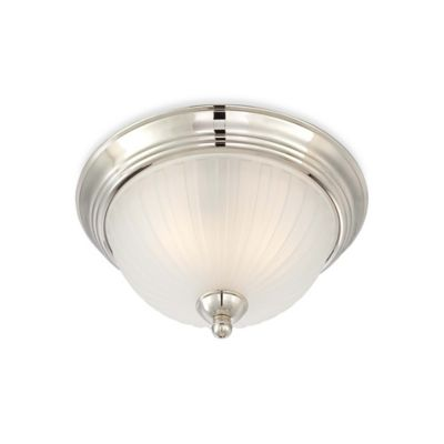 Polished Nickel with Glass Shade