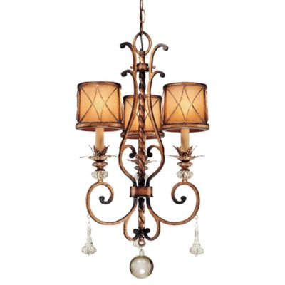 Bronze with Glass Shades Chandeliers