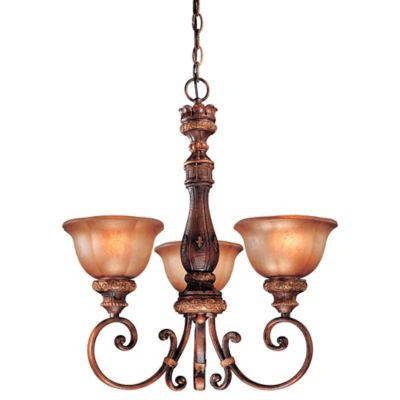 Minka Lavery® Illuminati™ 3-Light Mini Chandelier in Bronze with Glass Shade