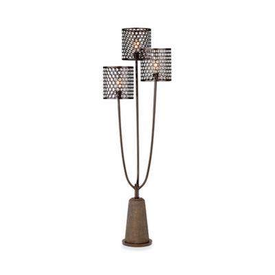 Pacific Coast Lighting Pegasus 3-Light Floor Lamp in Black
